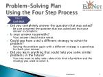 problem solving plan using the four step process5