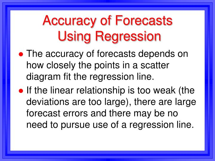 Accuracy of Forecasts