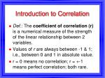 introduction to correlation