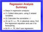 regression analysis summary