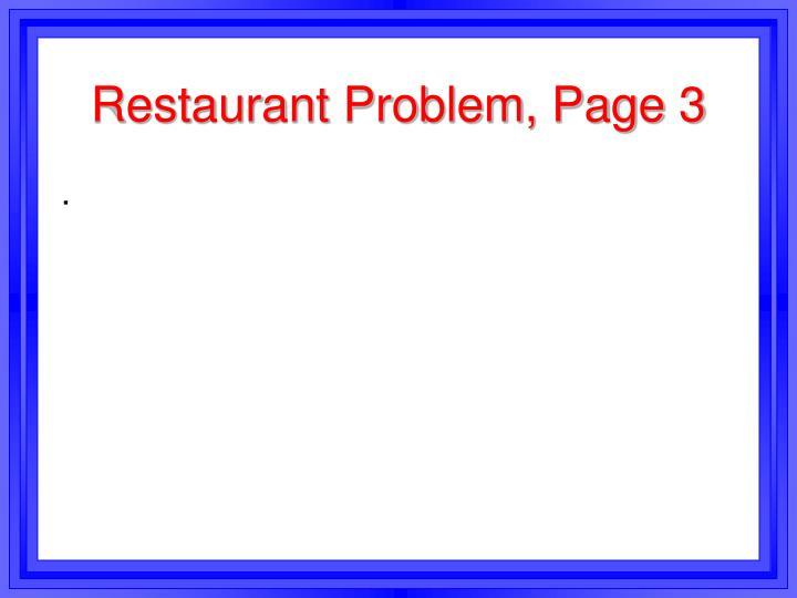 Restaurant Problem, Page 3