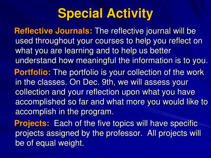 Special Activity
