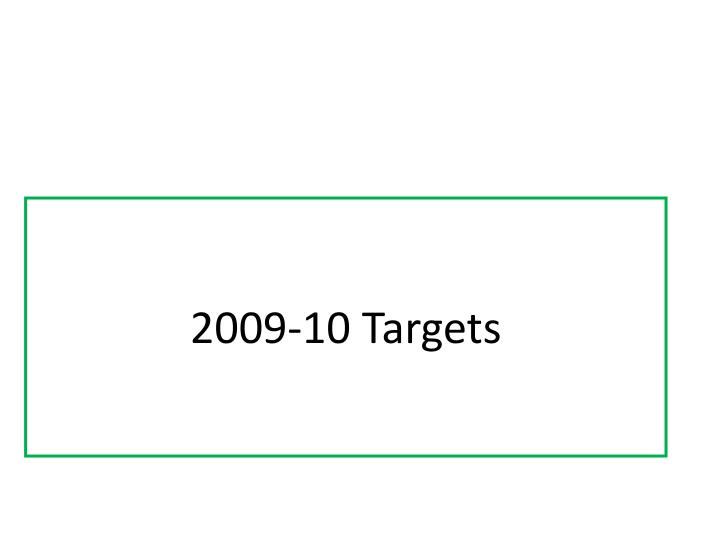2009-10 Targets