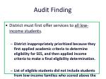 audit finding
