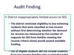 audit finding2