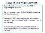 how to prioritize services