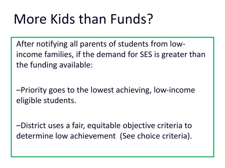 More Kids than Funds?