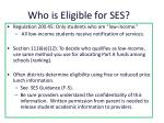 who is eligible for ses