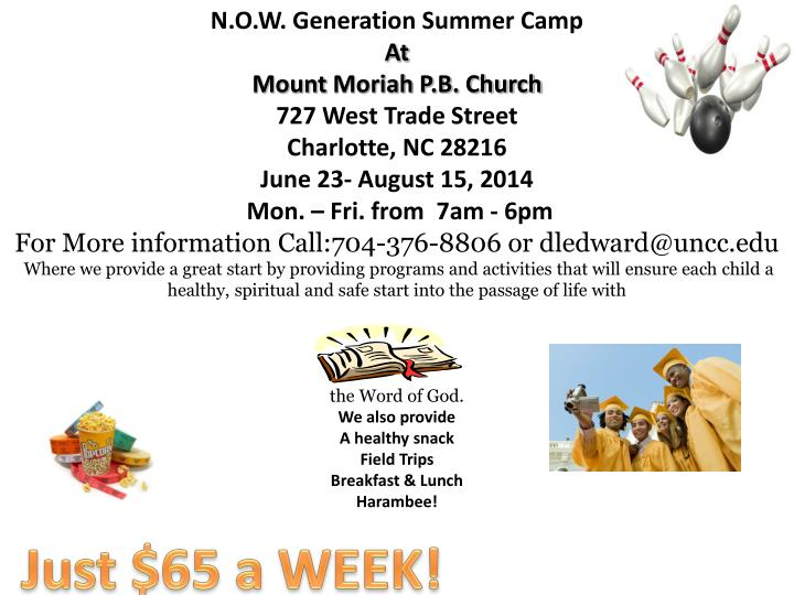 N.O.W. Generation Summer Camp