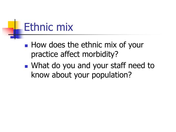 Ethnic mix
