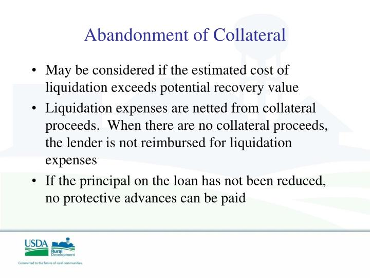 Abandonment of Collateral