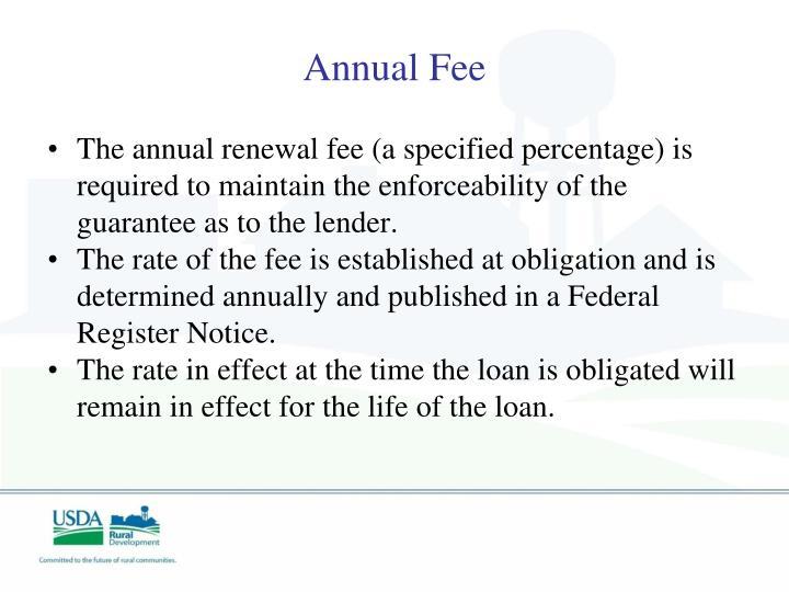 Annual Fee