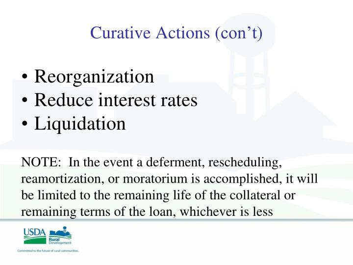 Curative Actions (
