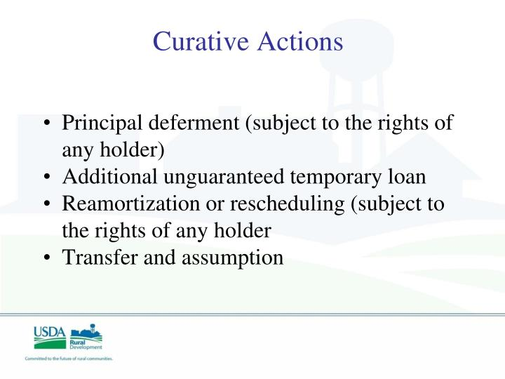 Curative Actions