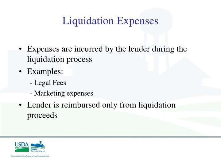 Liquidation Expenses