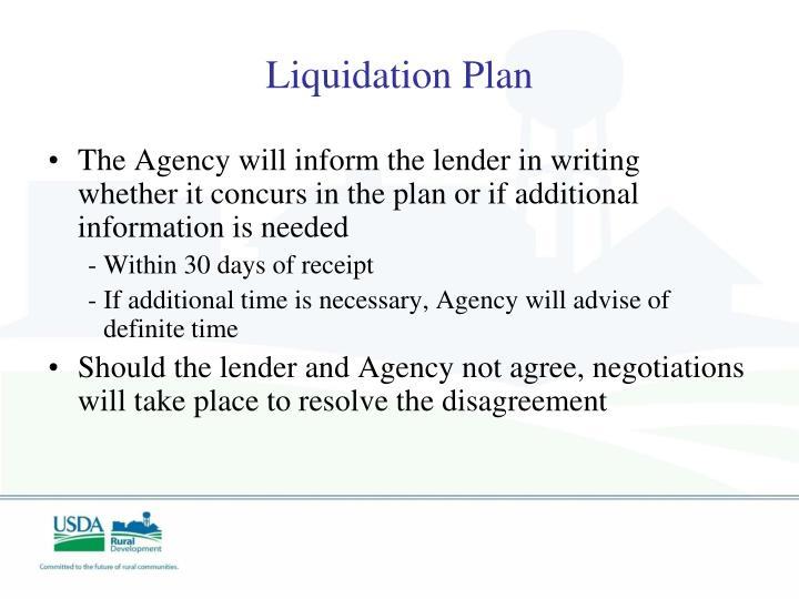 Liquidation Plan