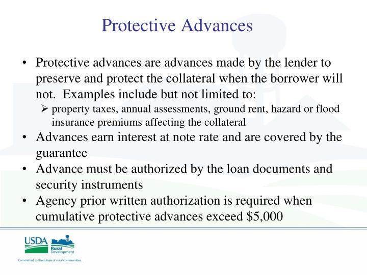 Protective Advances