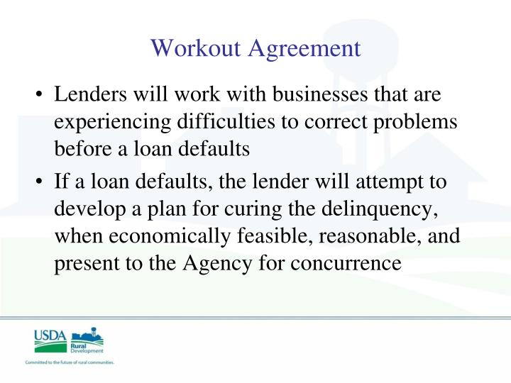 Workout Agreement