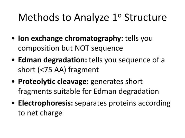 Methods to Analyze 1