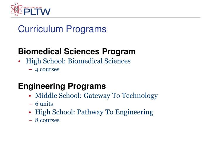 Curriculum Programs