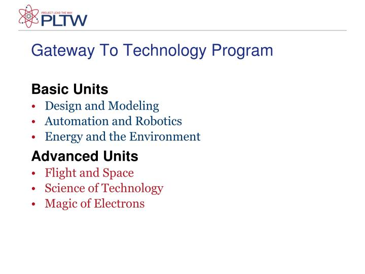 Gateway To Technology Program