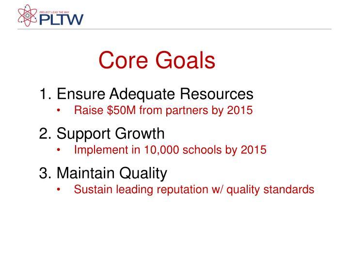 Core Goals
