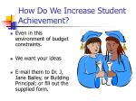 how do we increase student achievement