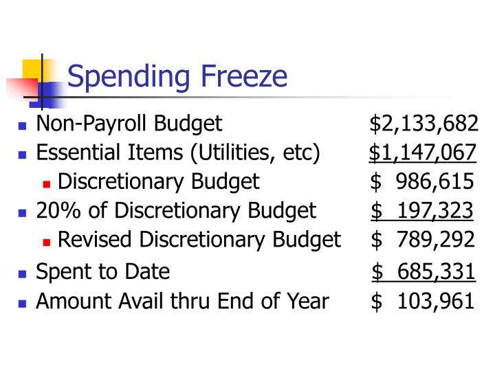 Spending Freeze