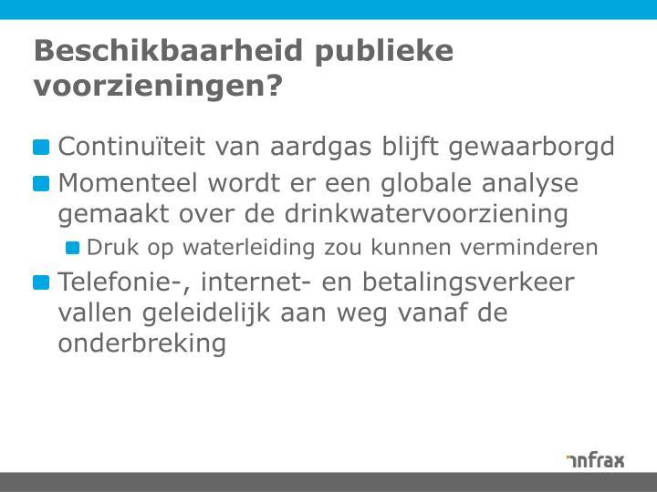 Beschikbaarheid publieke voorzieningen?