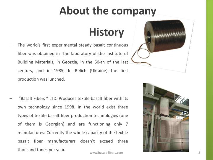 About the company history