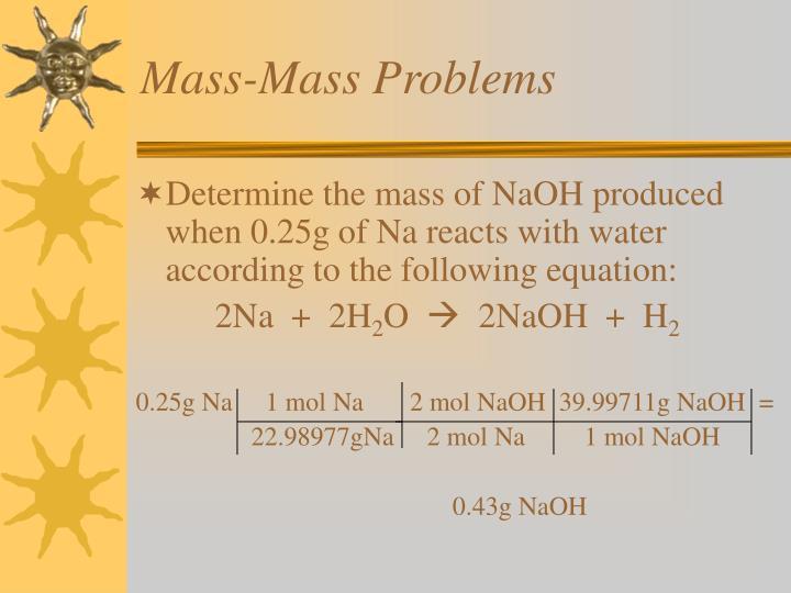 Mass-Mass Problems