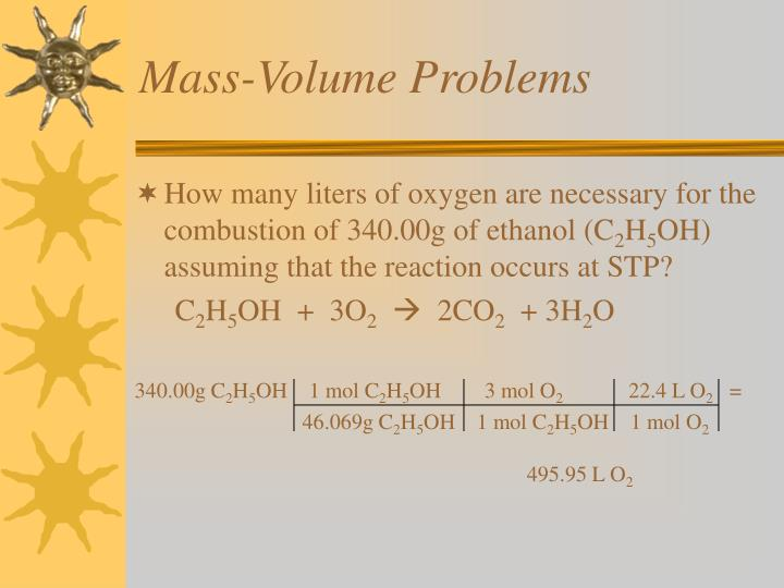 Mass-Volume Problems