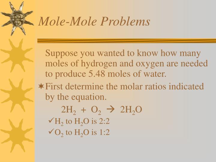 Mole-Mole Problems