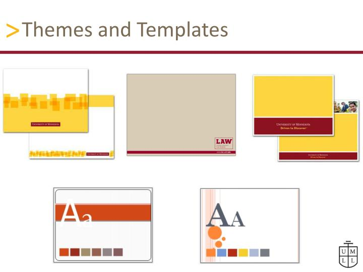 Themes and templates