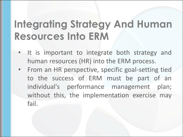 Integrating Strategy And Human Resources Into ERM
