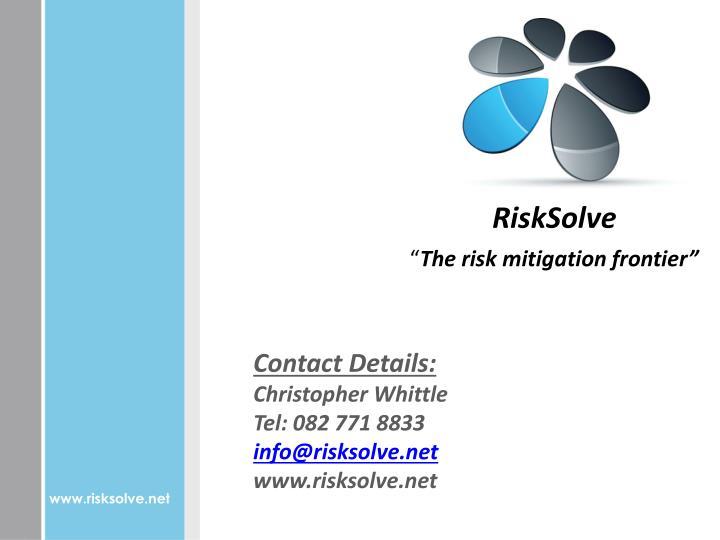 RiskSolve
