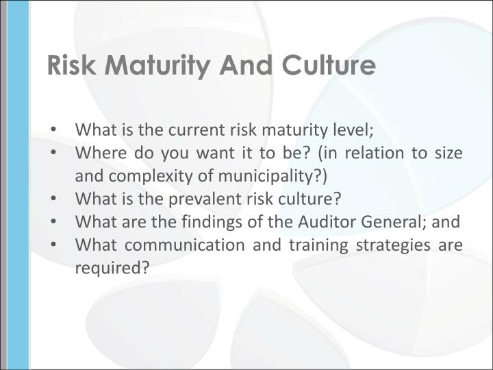 Risk Maturity And Culture