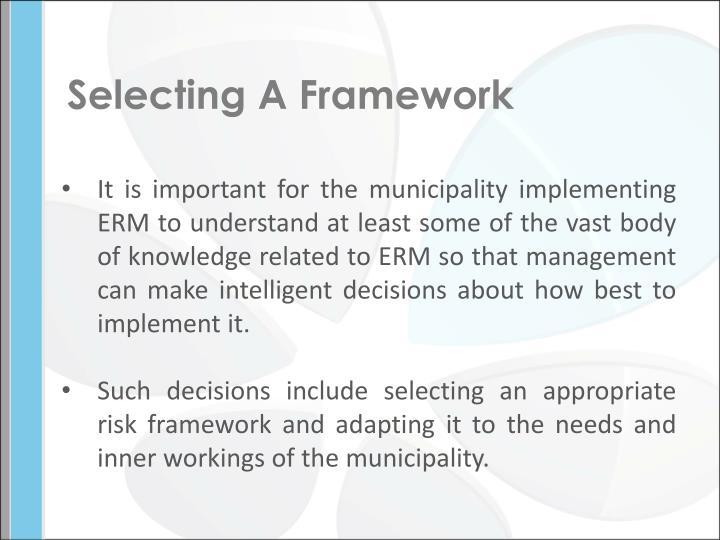 Selecting A Framework