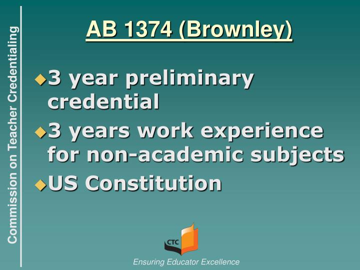 AB 1374 (Brownley)