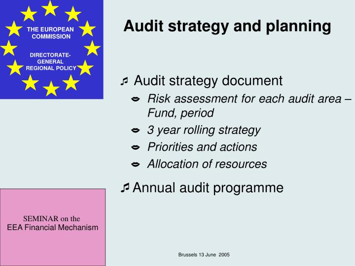 Audit strategy and planning