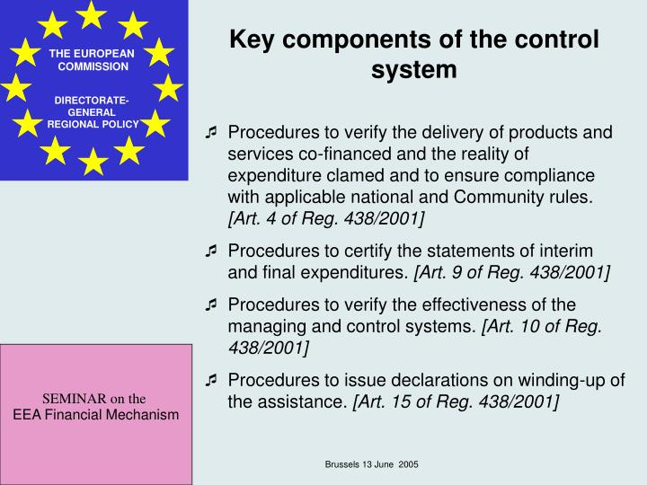 Key components of the control system