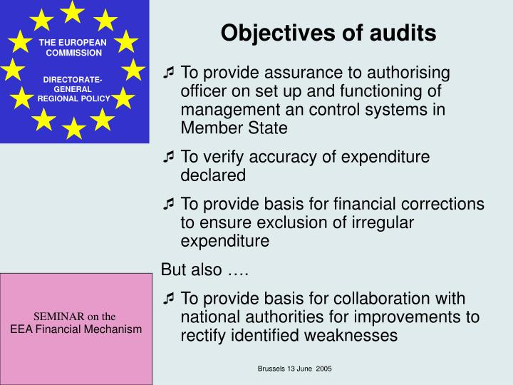 Objectives of audits