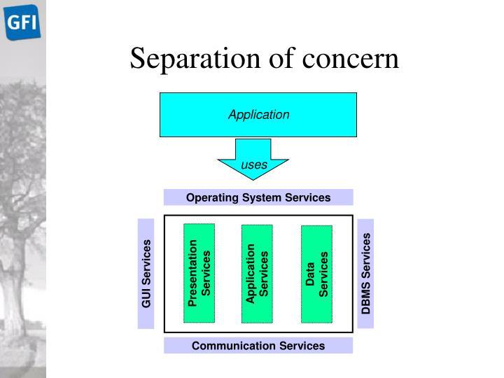Separation of concern
