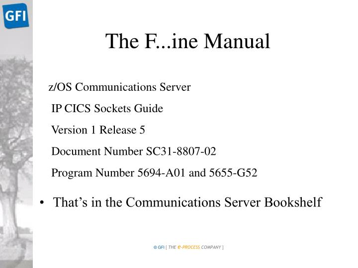 The F...ine Manual