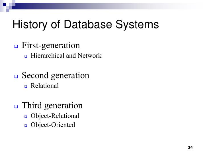 History of Database Systems