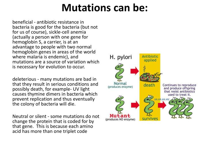 Mutations can be: