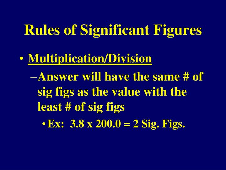 Rules of Significant Figures