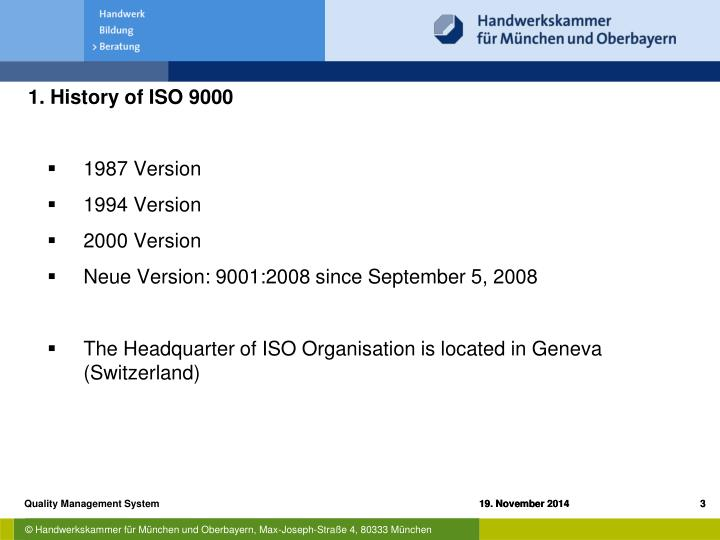 1. History of ISO 9000