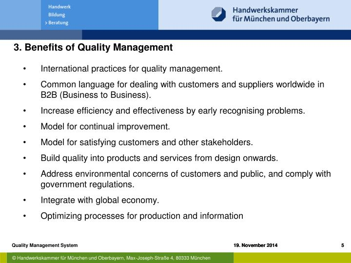 3. Benefits of Quality Management
