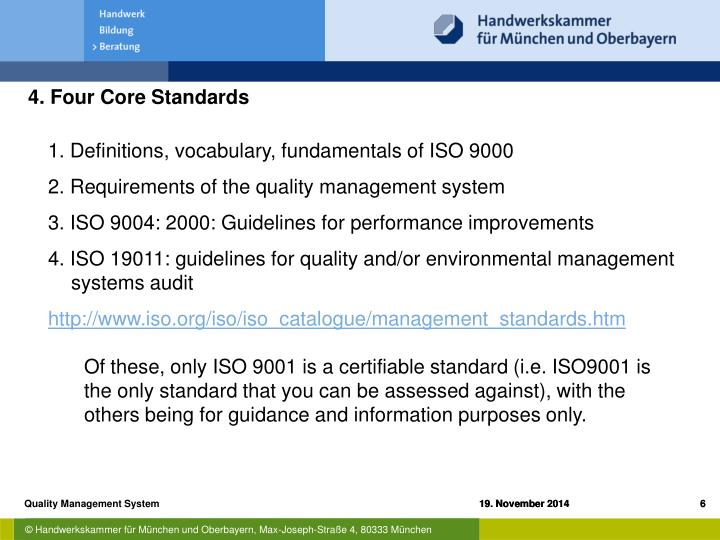 4. Four Core Standards